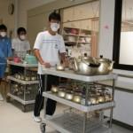 詫間中学校の生徒さんがたくま荘に職場体験