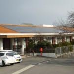 たくま荘の屋根に太陽光発電設備を設置しました